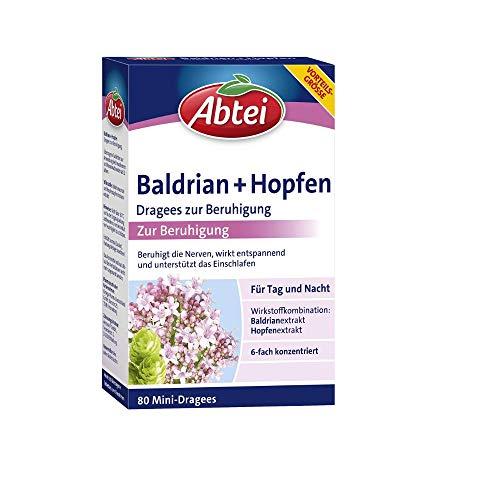 Abtei Baldrian + Hopfen Dragees zur Beruhigung...