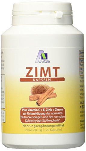 Avitale Zimt Kapseln 500 mg + Vitamin C+E, 120...