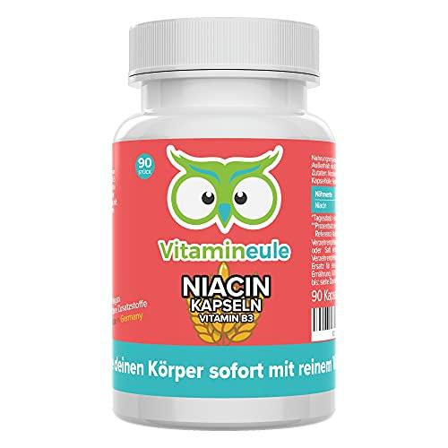 Niacin Kapseln hochdosiert & vegan - flush free -...