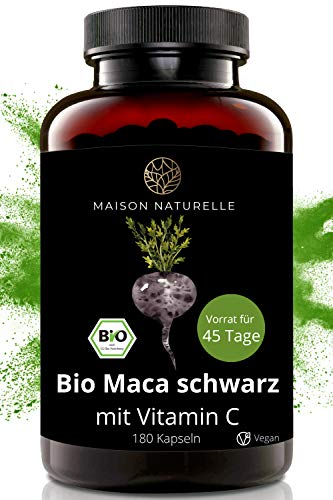 MAISON NATURELLE® Bio Maca Schwarz Kapseln (180...