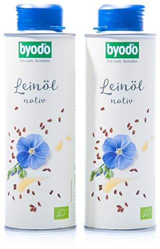 Byodo Natives Leinöl, 2er Pack (2 x 250 ml Dose)...