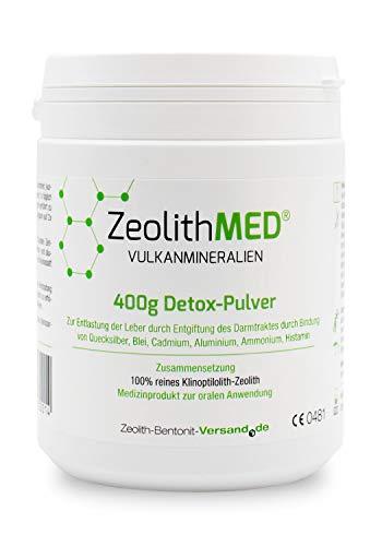 Zeolith MED Detox-Pulver 400g, CE zertifiziertes...