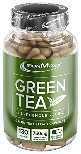 IronMaxx Green Tea Grüntee-Extrakt Kapseln, 130...