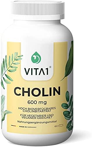 Cholin 600g • 60 Kapseln (Monatspackung) •...