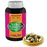 VITAIDEAL ® Traubensilberkerze-Wurzel (Schlangenwurzel, Cimicifuga racemosa) 180 Kapseln je 450mg, aus rein natürlichen Kräutern, ohne Zusatzstoffe von NEZ-Diskounter