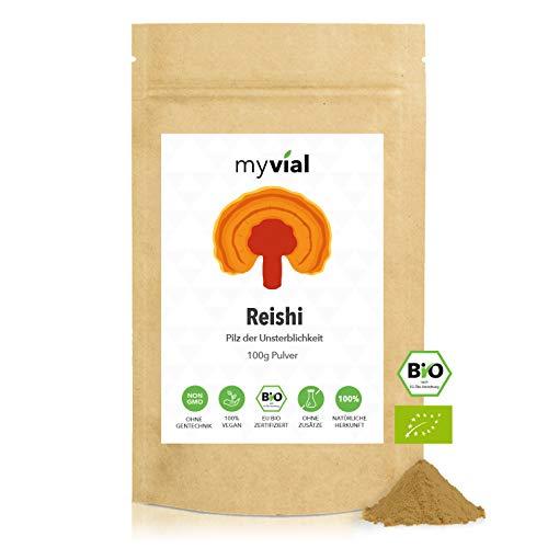 myvial® Bio Reishi Pulver 100g vegan   100% rein...