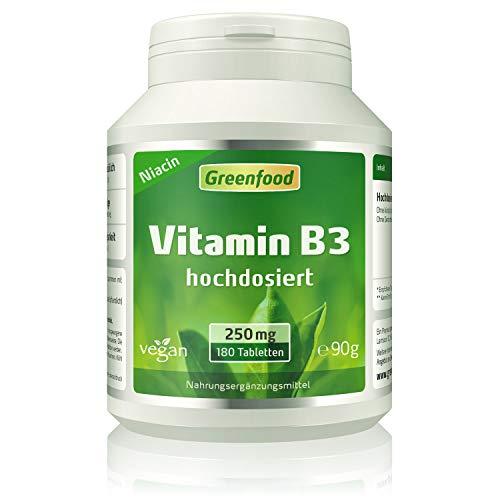 Vitamin B3 (Niacin), 250 mg, hochdosiert, 180...