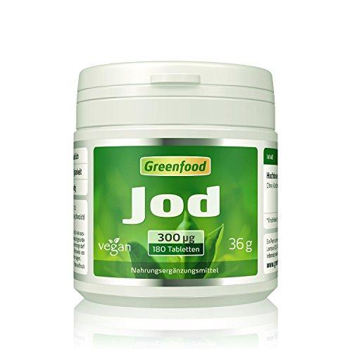 Jod, 300 µg, hochdosiert, 180 Tabletten, vegan...