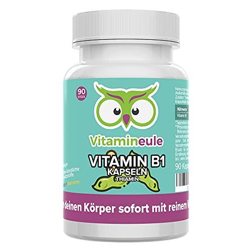Vitamin B1 Kapseln (Thiamin) - hochdosiert,...
