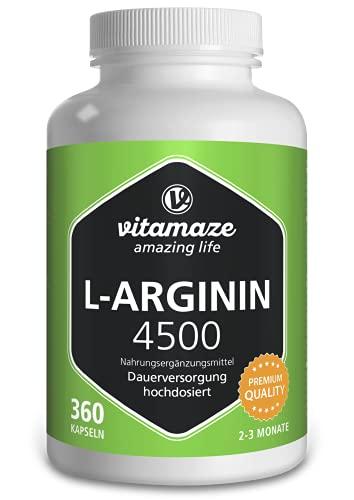 L-Arginin Kapseln hochdosiert 4500 mg je...