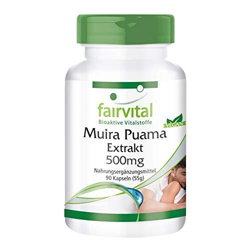 Muira Puama 500mg - HOCHDOSIERT - Potenzholz 10:1...
