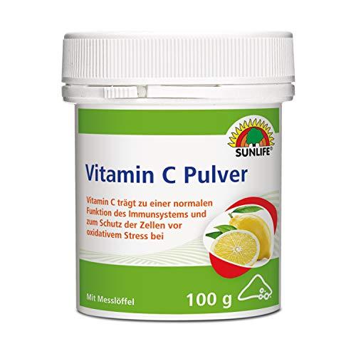 SUNLIFE Vitamin C Pulver: Vitamin C unterstützt...