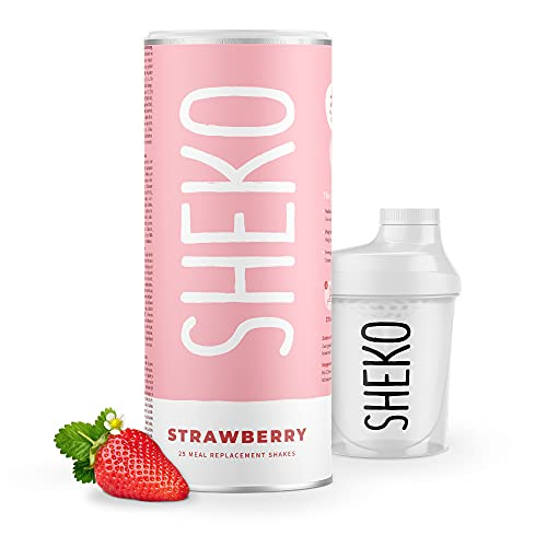 Sheko Diätshake zum Abnehmen | Erdbeer Protein...
