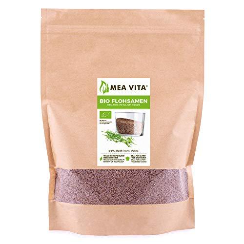 MeaVita Bio Flohsamen, 99% rein, 1000g im Beutel...