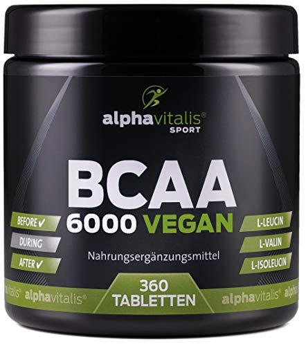 BCAA 6000 vegan - 360 Tabletten á 1000 mg reine...