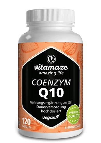 Coenzym Q10 hochdosiert, 200 mg pro Kapsel, vegan,...