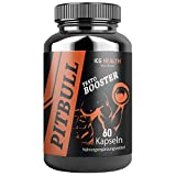 Pitbull Testo Booster – Pre Workout Booster Muskelaufbau (1 Dose je 60 Kapseln) – Booster Pre Workout Testosteron Booster Fitness