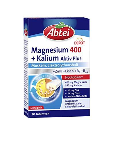Abtei Magnesium 400 + Kalium - hochdosiertes...