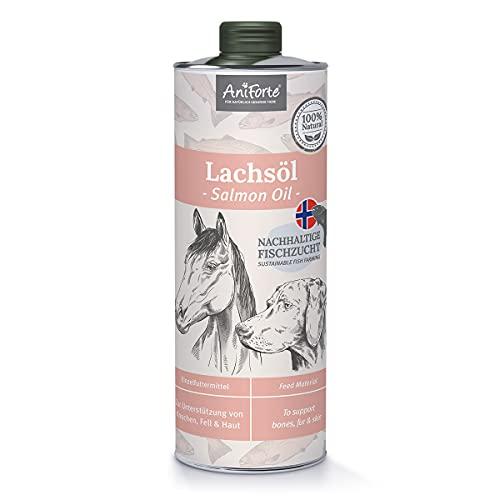 AniForte Lachsöl für Hunde & Pferde 1 Liter -...