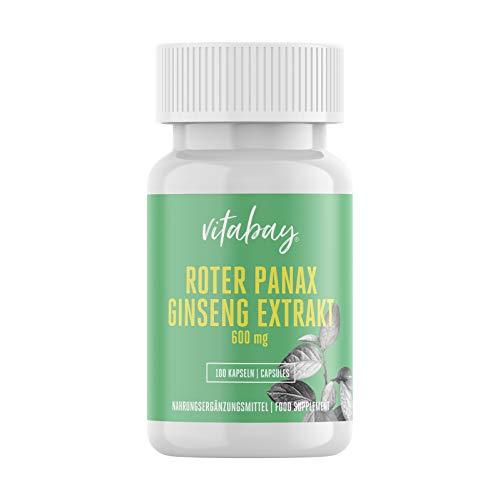 Vitabay Roter Panax Ginseng Extrakt 600 mg • 100...