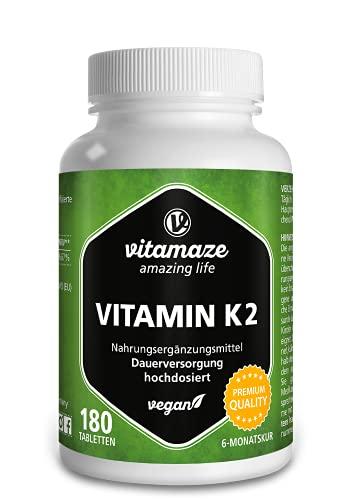 Vitamin K2 hochdosiert & vegan, 200 mcg MK-7...