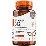Vitamin B12 500mcg - 365 Tabletten - Aktive Form Methylcobalamin - getestet und zertifiziert in Deutschland - VEGAN - Hochdosiert - 1 Jahresvorrat