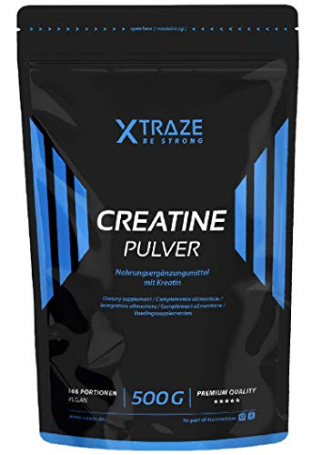 Creatin Monohydrat Pulver 500 g, Kreatin vegan,...