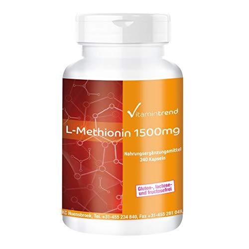 L-Methionin 1500mg - 240 vegane Kapseln -...