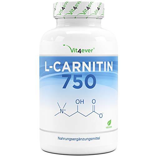 L-Carnitin - 180 vegane Kapseln - Hochdosiert mit...