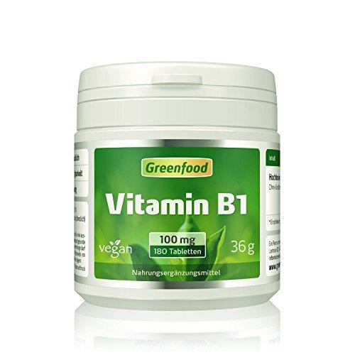 Vitamin B1, 100 mg, hochdosiert, 180 Tabletten,...