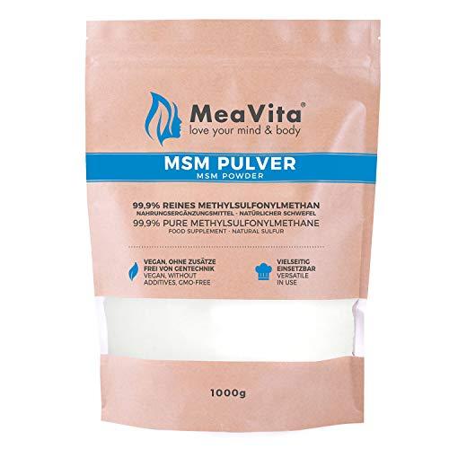 MeaVita MSM Pulver, 99,9% rein, (1x 1000g)...
