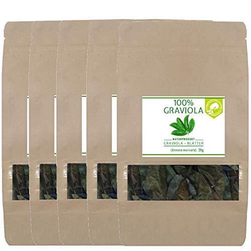 5 x 100% BIO Graviola Blätter (5 x 20g), NEUE...