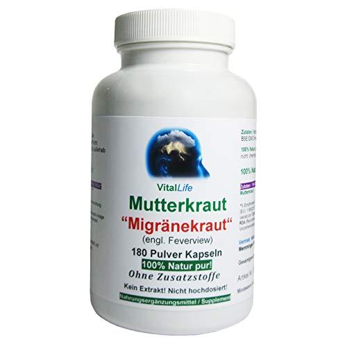 Mutterkraut'Migränekraut' 180 Pulver Kapseln...