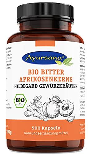 Ayursana - Bio Bittere Aprikosenkernkapseln mit...