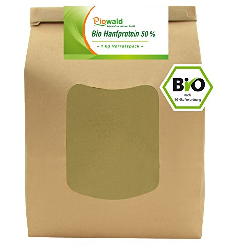 BIO Hanfprotein - 1 kg Vorratspack   Pflanzliches...