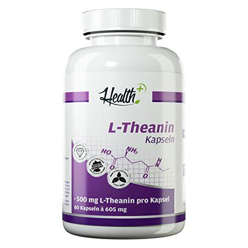 Health+ L-Theanin - 60 Aminosäuren-Kapseln ohne...