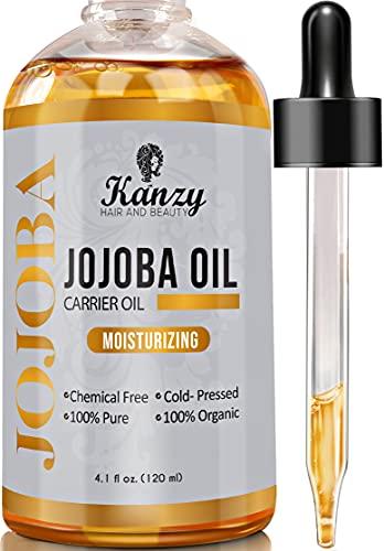 Kanzy Jojobaöl Bio Kaltgepresst 100% Rein Gold...