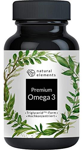 Premium Omega 3 Fischöl Kapseln - 3-fache...