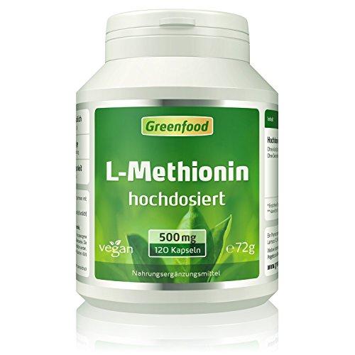 L-Methionin, 500 mg, hochdosiert, 120 Kapseln,...