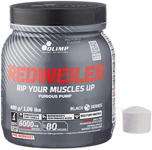 OLIMP- Redweiler Pre Workout - Red Punch (480g)....