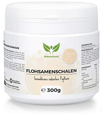 NaturaForte Flohsamenschalen Pulver gemahlen 300g...