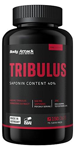 Body Attack Tribulus mit 2400mg Tribulus Extrakt -...