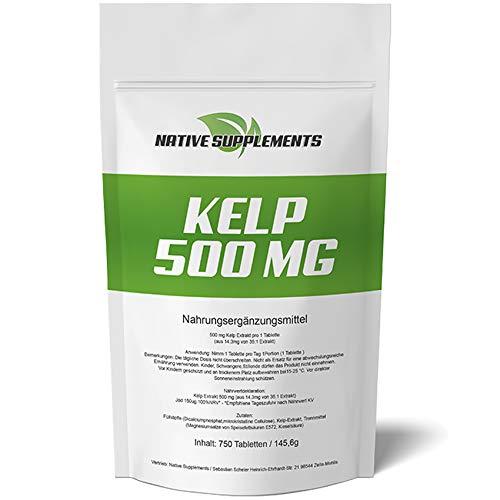 Kelp 500 mg Hochdosiert - XXL Bulk Pack - 750...