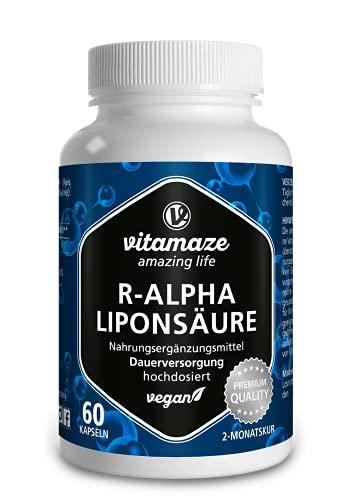 R-Alpha-Liponsäure hochdosiert, 200 mg je Kapsel,...