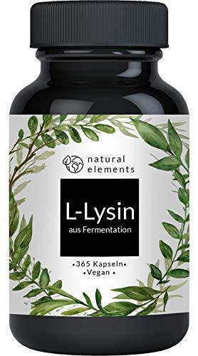 L-Lysin - 365 Kapseln - Aus pflanzlicher...