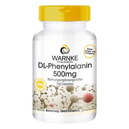 DL-Phenylalanin 500mg - hochdosiert & vegan - 100...