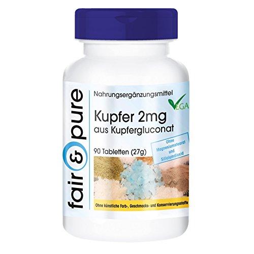 Kupfer Tabletten 2mg - Kupfergluconat - vegan -...