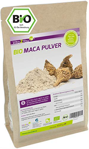 Maca Pulver 1kg - Bio Qualität - Maca-Wurzel -...