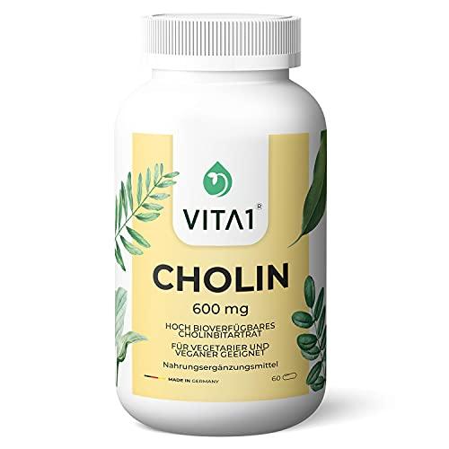Cholin 600 mg • 60 Kapseln (Monatspackung) •...