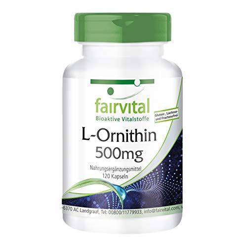 L-Ornithin 500mg - HOCHDOSIERT - Vegan - 120...